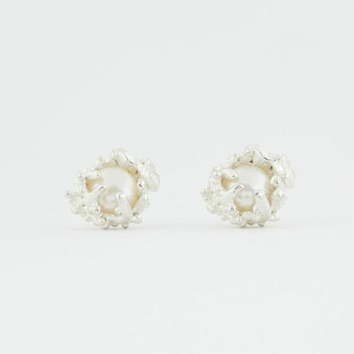 Image of Captured Pearl Studs.