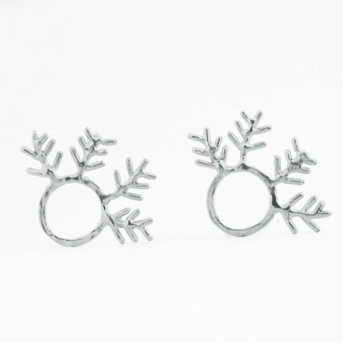 Image of Round Fern Earrings