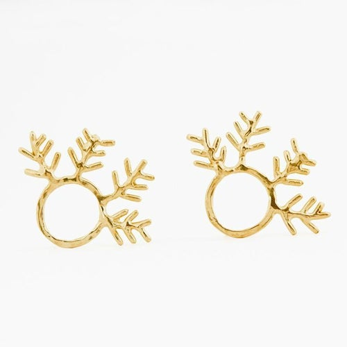 Image of Round Fern Earrings.