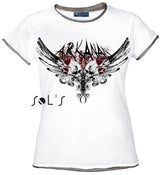 Image of Twin Skull T-Shirt_Girly