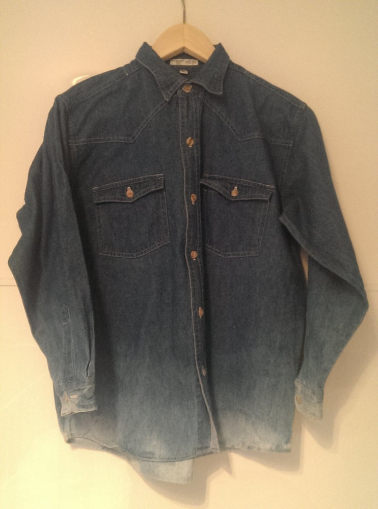 Image of Double Dip Dyed denim shirt