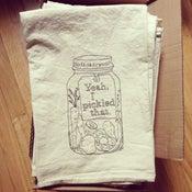 Image of flour sack towel - pickle