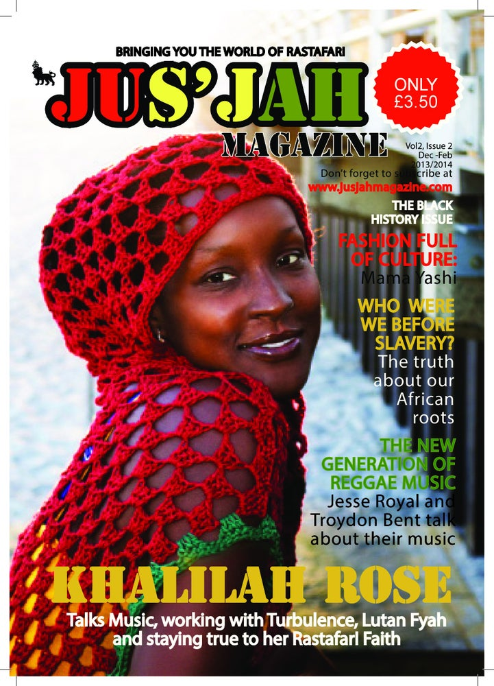 Image of Jus Jah Magazine Volume 2 Issue 2 Khalilah Rose Cover