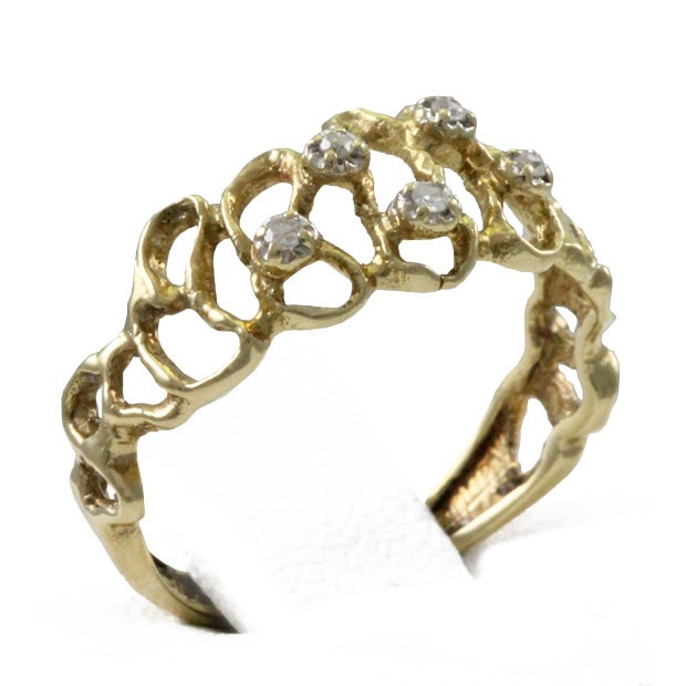 Image of Gold Nugget Ring