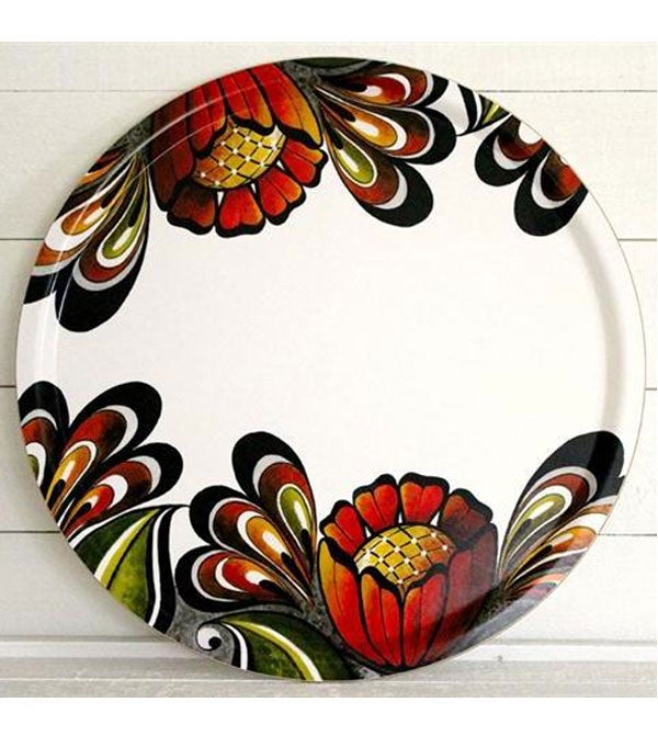 "Image of Swedish ""Dala Garden"" Serving Tray"
