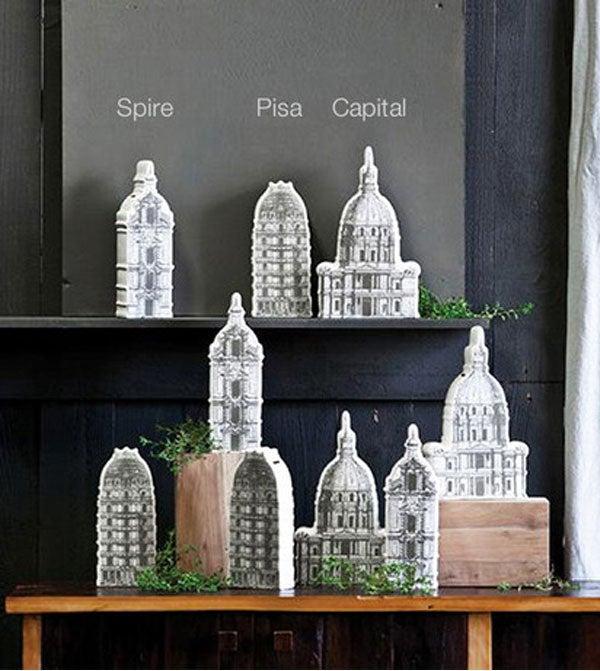 Image of Architectural Ceramic Money Banks
