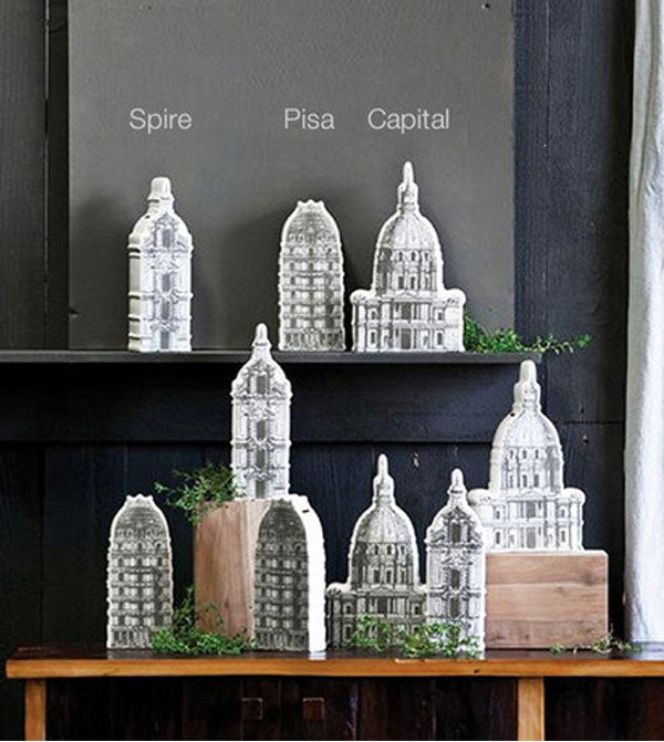 Image of Architectural Ceramic Money Banks