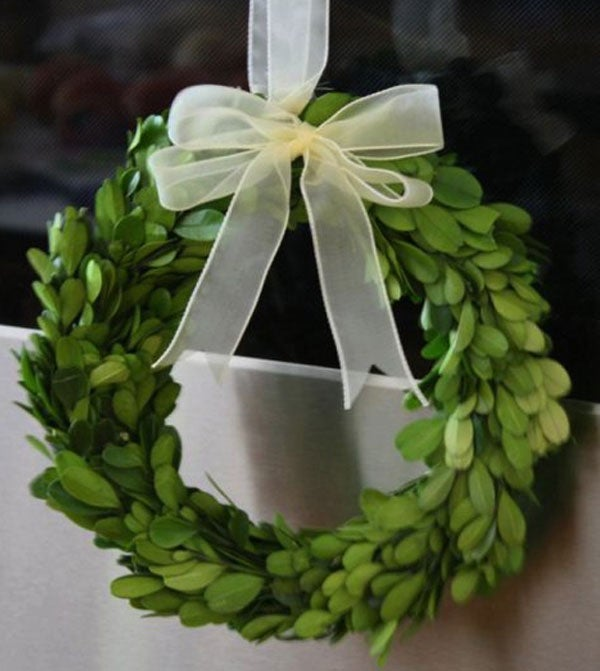 Image of Preserved Boxwood Wreath -- Round 8""
