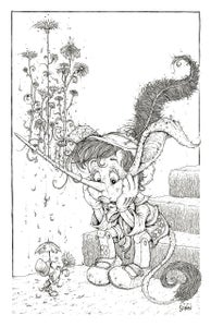 "Image of ""You Sure There's Nothing Wrong?"" Pinocchio print"