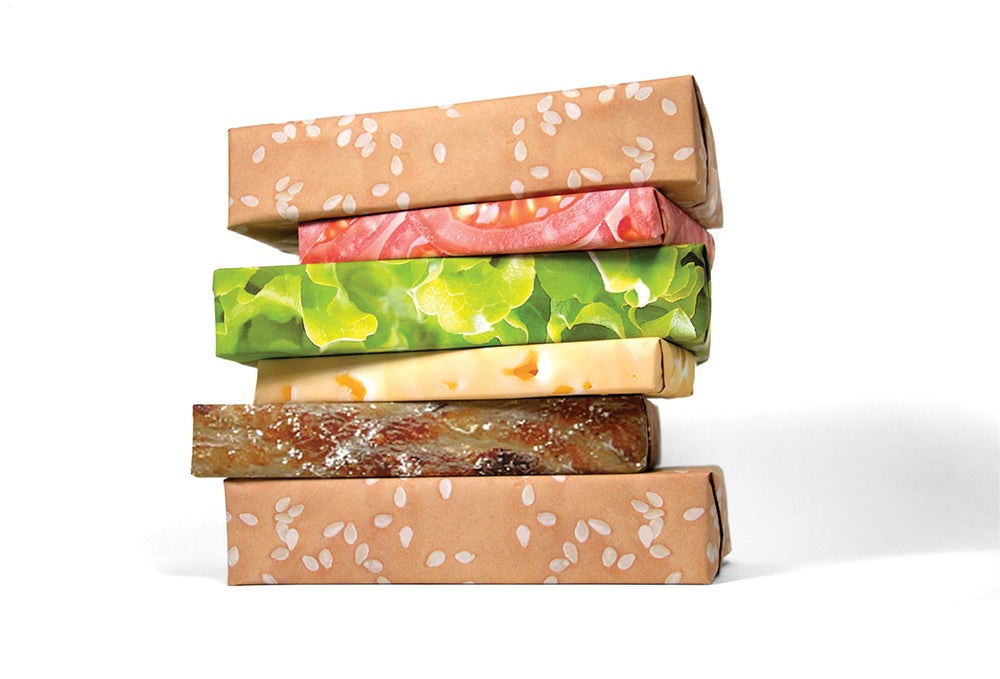 Image of Cheeseburger Wrapping Paper