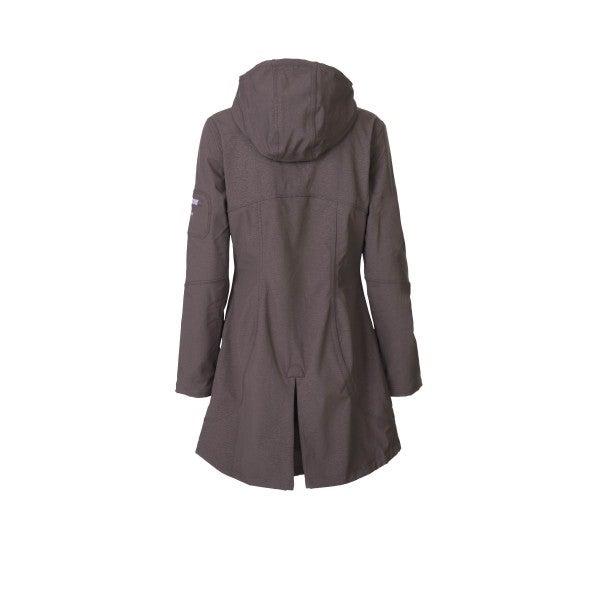 Image of Ilse Jacobsen 3/4 Length Raincoat - Prune/Lavender