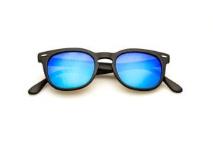 Image of Memento Audere Semper - Black + Blue Mirrored Lens