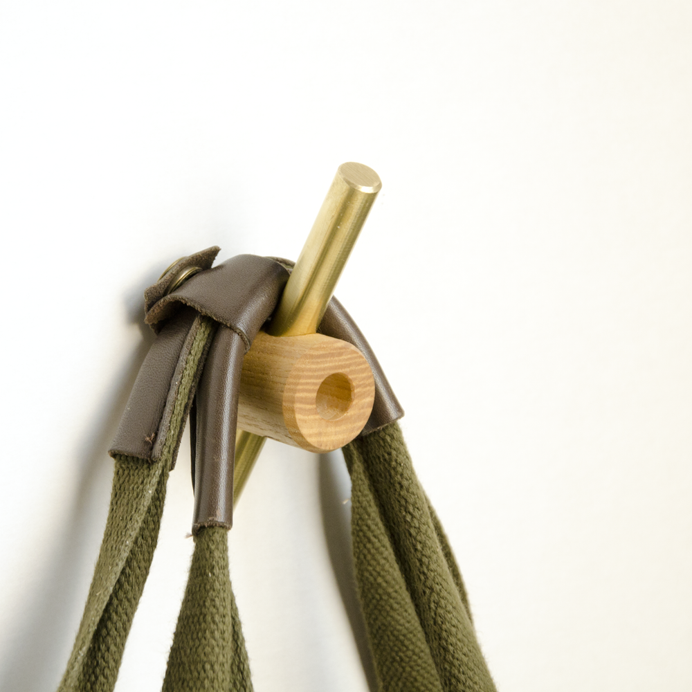 Image of Intersect Hook Oiled Ash/Brass