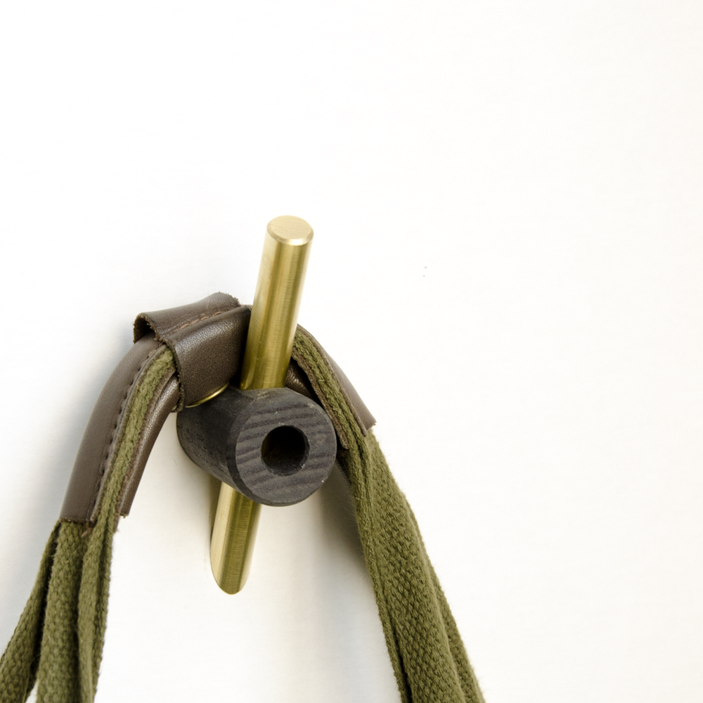 Image of Intersect Hook Dyed Black/Brass