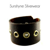 Image of Dark Brown Leather Cuff