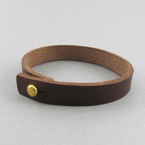 Image of Unisex Dark Brown Leather bracelet