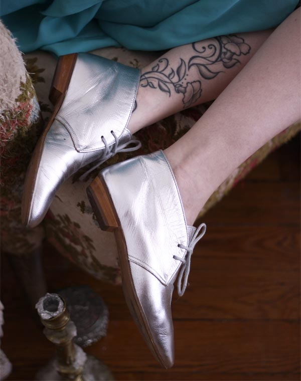 Image of Chaussures pointues argentées