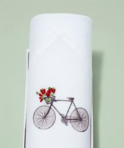 Image of Lady handkerchief: Bicycle and flowers