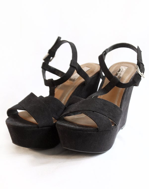 Image of Sandales à talons compensées