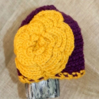 Image of Flower Hat {slouchy hats and hats with embellishments}
