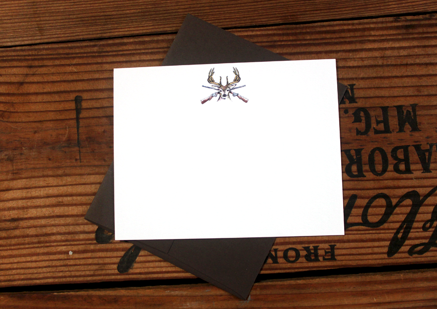 Image of White Tail Deer Stationery- Set of 8