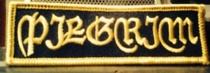 Image of Embroidered Gold Logo Patch