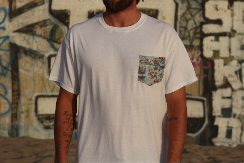 Image of Limited Edition Salty Cats of Italy Pocket Tee