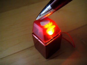Image of Anodized Red Metal Keycap Keychain