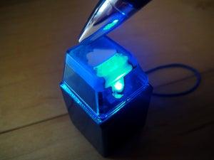 Image of Anodized Blue Metal Keycap Keychain