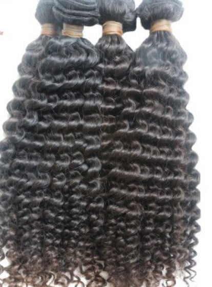 Image of (MM) virgin brazilian curly/ deep wave 8a