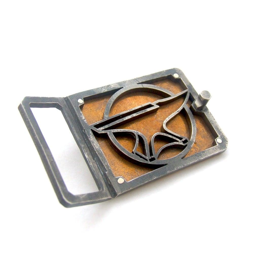 Image of Hammered Bronze Belt Buckle