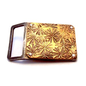 Image of Hammered Bronze Belt Buckle