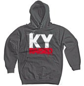 Image of KY Raised Charcoal Grey/White/Red Hooded Sweatshirt