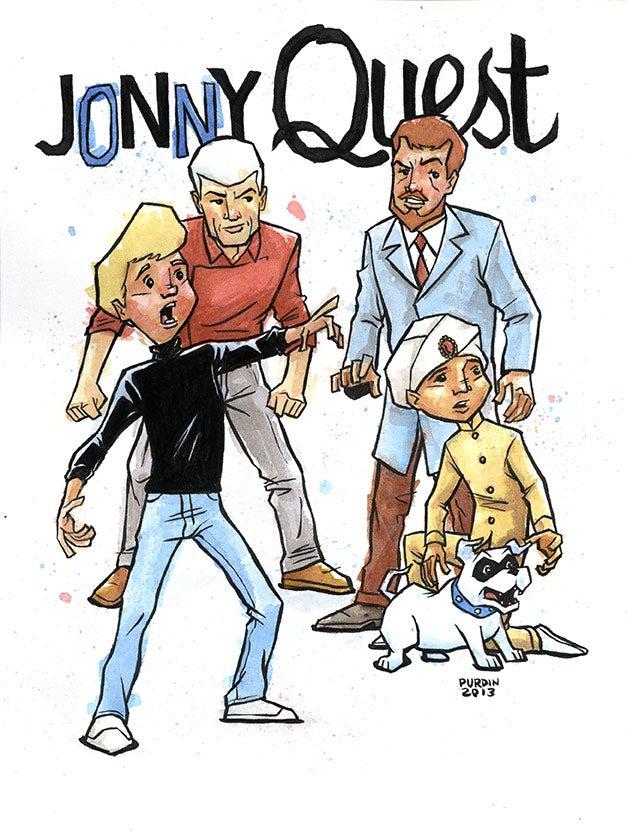 Image of Jonny Quest Watercolor/Ink