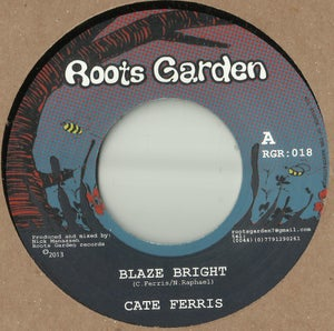 "Image of 7"" Cate Ferris 'Blaze bright' / Manasseh 'Just One Dub' (Hustling rhythm)"