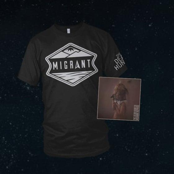 Image of 'Migrant Reprise' CD & 'Migrant' T-Shirt