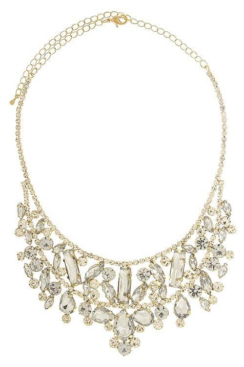 Image of Crystal Fitz Bib Necklace