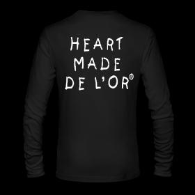Image of Heart Made Of Gold Logo T-Shirt (Long Sleeve Noir)