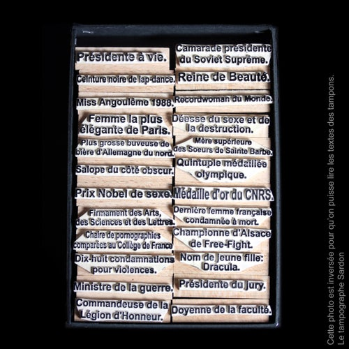Image of Titres honorifiques (version féminine). Honorary titles