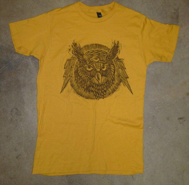 Image of Spirit Owl TCB Tee Ginger Gold