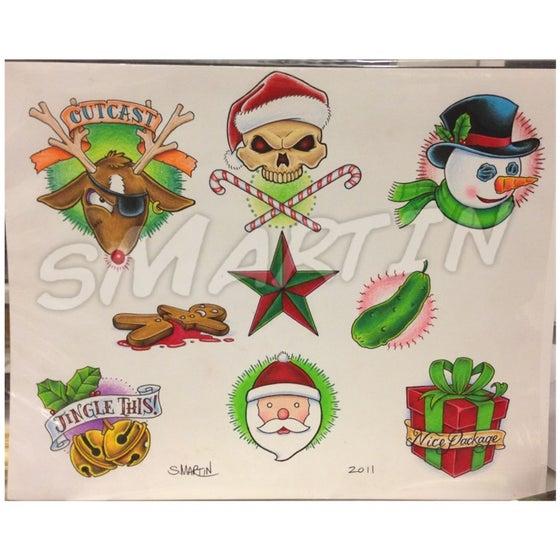 Image of Christmas Tattoo Flash