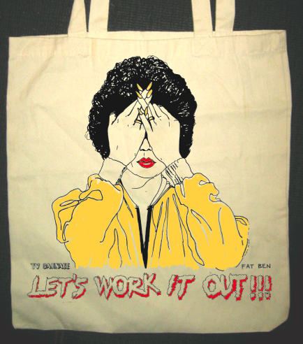 let 39 s work it out marie osmond tote bag almost sold out tv carnage. Black Bedroom Furniture Sets. Home Design Ideas