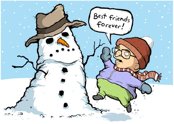 Image of Snowman Holiday Card
