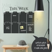 Image of Weekly Chalkboard Wall Calendar