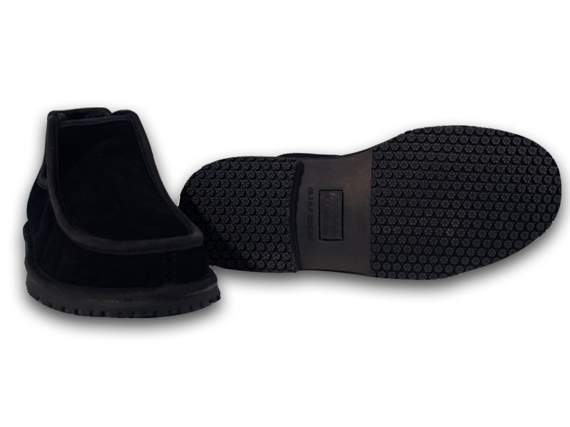 Image of Homiegear Black Boot Cow Suede with fur-The Boot