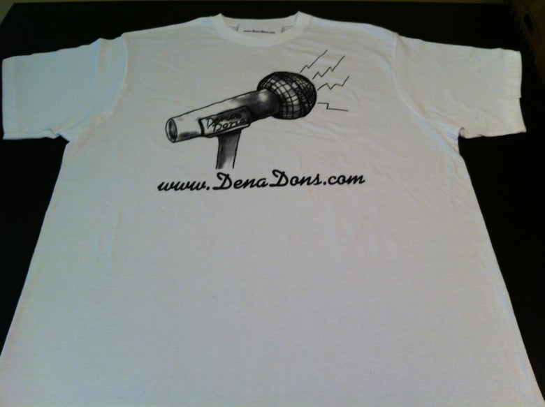 Image of DENA DONS COKE WHITE TEE SHIRT