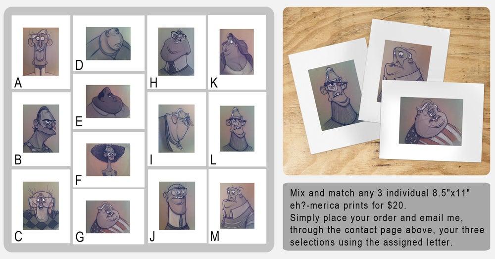 Image of eh?-merica: print bundle