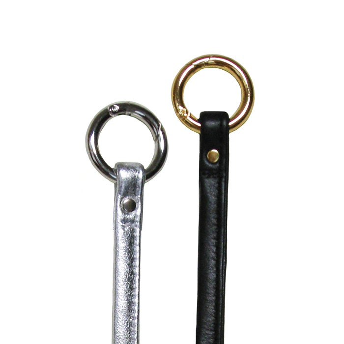Image of Leather Key Fob Tether - Your Choice of Leather Color & Gold or Nickel #18B Attachable Hooks