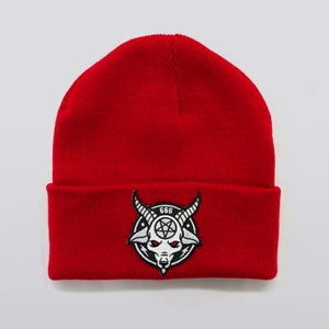 Image of Red Rams Head Beanie