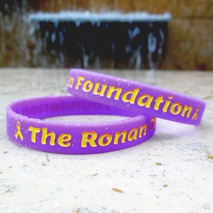 Image of Purple Glitter Foundation Band - Pack of 2